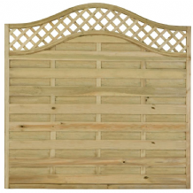 Balmoral Fence Panel With Trellis